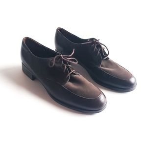 Munro | Brown Leather Lace Up Oxford Comfort Shoes